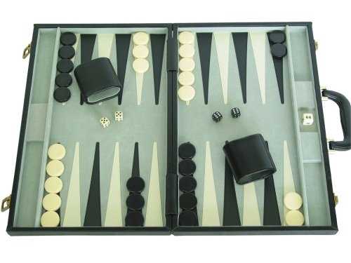 Sterling Leather Backgammon Set
