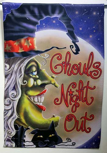 Ghouls Night Out Halloween Decorative Garden Flag