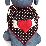 Winged Heart Dog Bandana Kerchief (Large)
