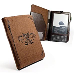 Eco-nique natural Hemp Brown case cover for Amazon Kindle 3 / Global Wireless 6 inch / 15 cm (latest generation) - (Book Style)