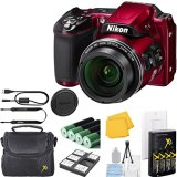 Nikon-COOLPIX-L840-Digital-Camera-Bundle-with-38x-Optical-Zoom-and-Built-In-Wi-Fi-Red-WHITE-BOX-PACKAGING-NEW-CAMERA-Camera-Case-6pc-Starter-Kit-Charger