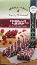Archer Farms Pomogranate Rasberry Real Fruit Bars drizzled with Yogurt coating 5 count