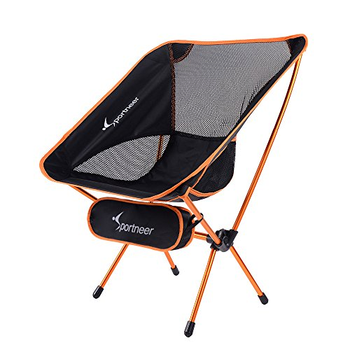 sportneer portable lightweight camping chair for hiking backpacking