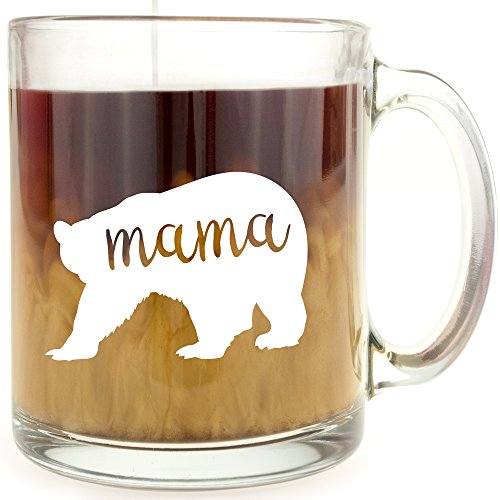 Mama Bear - Glass Coffee Mug