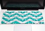 TopCase Chevron Zig-Zag Silicone Keyboard Cover Skin for Macbook 13