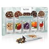 Tea Forte WINTER COLLECTION Single Steeps Loose Leaf Tea Sampler, 15 Single Serve Pouches - Seasonal Black Tea & Herbal Tea