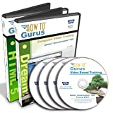 HTML 5 and Adobe Dreamweaver CS5 Tutorial Training on 4 DVDs, 29 Hours in 370 Video Lessons, Computer Software Video Tutorials
