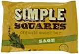 Simple Squares Organic Snack Bar, Honey Nut Sage, 1.6-ounce Bars (Box of 12)