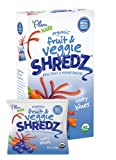 Plum Kids Organic Fruit and Veggie Shredz, Rooty Blues, 5-Count (Pack of 8)