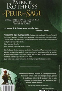 Patrick Rothfuss - Chronique du Tueur de Rois, deuxième journée T02 La Peur du sage - seconde partie 2019