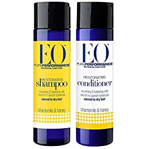 eo all natural organic herbal restorative chamomile and honey shampoo and conditioner bundle