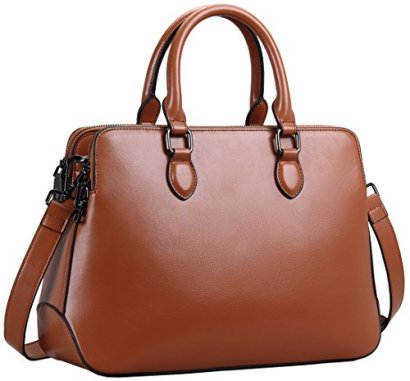 Heshe-New-Hot-Sell-Double-Zippered-Tote-Top-handle-Cross-Body-Shoulder-Bag-Handbag-Purse-Messenger-Bag-for-Women-Brown-r