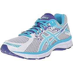 ASICS Women's Gel-Excite 3 Running Shoe, White/Scuba Blue/Acai, 10 M US