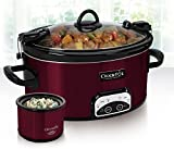 New Red CrockPot 6 Quart Slow Cooker Crock Pot plus Little Dipper Warmer