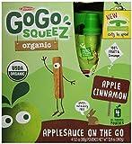 GoGo squeeZ Organic - Apple Cinnamon - 3.2oz, 4 pk (Case of 12)