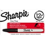Sharpie Fine Point Permanent Markers, 12 Black Markers(30001) for $7.56 + Shipping