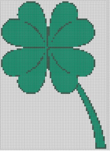 FREE KINDLE DOWNLOAD Four Leaf Clover 3 Cross Stitch Pattern