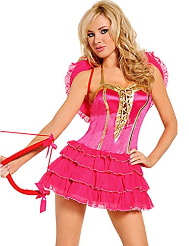 4 Piece White Velvet Lace Sexy Cupid Costume