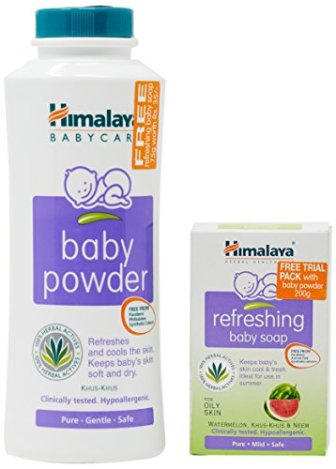 Himalaya Baby Powder, 200g with Free Refreshing Baby Soap, 75g Worth 35/-