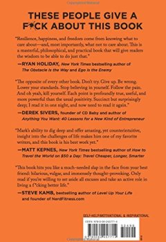 Livres Couvertures de The Subtle Art of Not Giving a F*ck: A Counterintuitive Approach to Living a Good Life