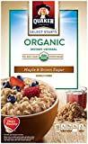 Quaker Instant Oatmeal Organic Maple & Brown Sugar, 8-Count Boxes (Pack of 4)