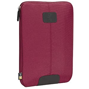"""Case Logic Nylon Kindle DX Sleeve (Fits 9.7"""" Display, Latest and 2nd Generation Kindles), Dark Red"""