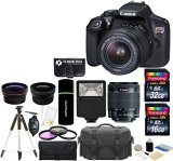 Canon-EOS-Rebel-T6-18MP-Wi-Fi-DSLR-Camera-with-18-55mm-IS-II-Lens-32GB-16GB-Card-Wide-Angle-Lens-Telephoto-Lens-Flash-Grip-Tripod-48GB-Deluxe-Accessories-Bundle