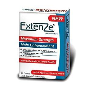 ExtenZe Maximum Strength Male Enhancement, 30-Count Tablets