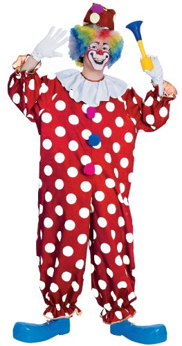 Rubie's Costume Haunted House Collection Dotted Clown Costume, Red, One Size