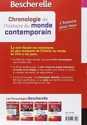Telecharger Bescherelle Chronologie de l'histoire du monde contemporain: les événements majeurs de 1914 à nos jours de Marielle Chevallier