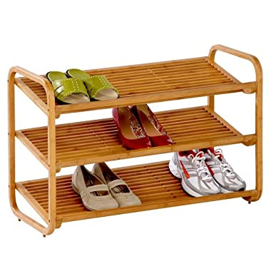 Product Image Honey-Can-Do 3 Tier Deluxe Bamboo Shoe Shelf