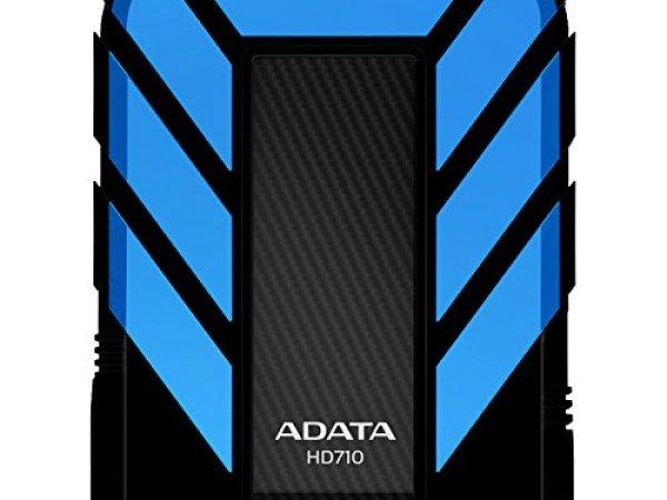 Adata Dash Drive Durable HD710 2 TB External Hard Drive Portable blue