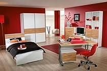 Jugendzimmer Solitär inkl. Bett, Schrank, Schreibtisch