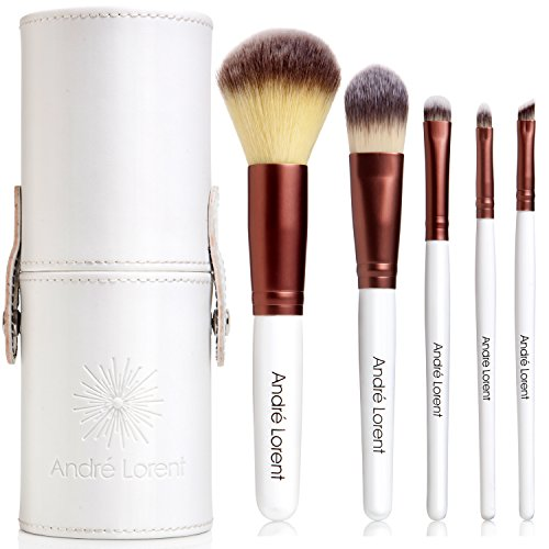 #1 PRO Makeup Brush Set With Gorgeous Designer Case – Includes 5 Professional Makeup Brushes. Lifetime Guarantee. Best Quality Brushes for Eye Makeup and Face – Top Choice of Pro Makeup Artists