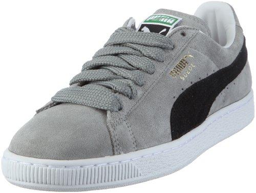 Puma Suede Classic 350734, Herren, Sneaker, Grau (limestone gray-black-white 59), EU 42 (UK 8) (US 9)