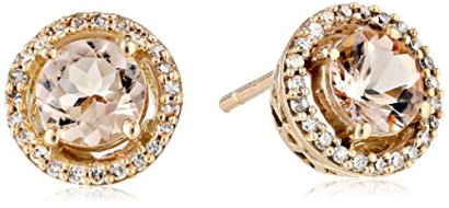 10k-Rose-Gold-Round-Morganite-with-Diamonds-Halo-Earrings-110cttw-I-J-Color-I2-I3-Clarity