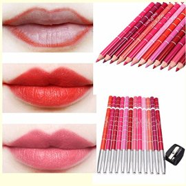 lip-liner-Luckyfine-Ultra-Pro-Beauty-Products-12-pcs-makeup-Professional-Waterproof-Lipliner-Pencil-Set-with-Pencil-Sharpener-for-Colored-Pencils