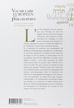 Livres Couvertures de Vocabulaire européen des philosophies
