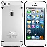 mumbi DUAL TPU Hardcase Hülle iPhone 5 5S Schutzhülle (harte Rückseite) schwarz
