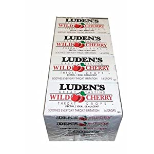 Ludens Wild Cherry Flavored Cough Drops (20 count)