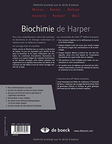 biochimie de harper gratuit