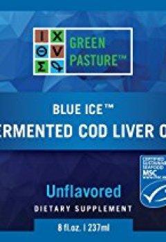 Livres Couvertures de Green Pasture Blue Ice huile de foie de morue fermenté, non aromatisé