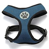 BINGPET BB5001 Soft Mesh Dog Puppy Pet Harness Adjustable - Navy Blue