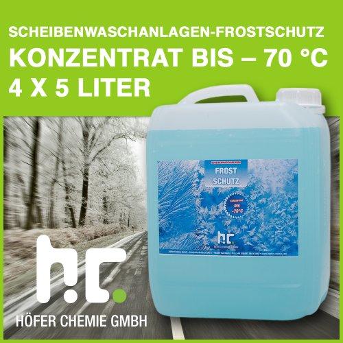 4 x 5 L Bio Scheibenfrostschutz Konzentrat -70