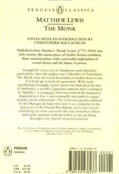 Livres Couvertures de The Monk