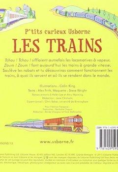 Livres Couvertures de Les trains - P'tits curieux Usborne