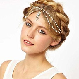 Leoy88-Crystal-Flower-Stretch-Hair-Chain-Hair-Band-Perfect-for-Makeup