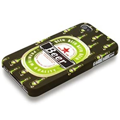 cool design green generic beer logo iphone 4/4s case at amazon