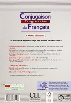 Livres Couvertures de Conjugaison progressive du francais - Niveau débutant - Livre + CD + livre-web