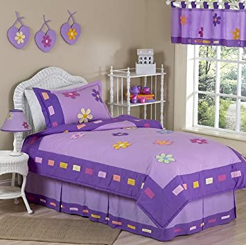 Danielle's Daisies Purple Childrens Bedding 3pc Full / Queen